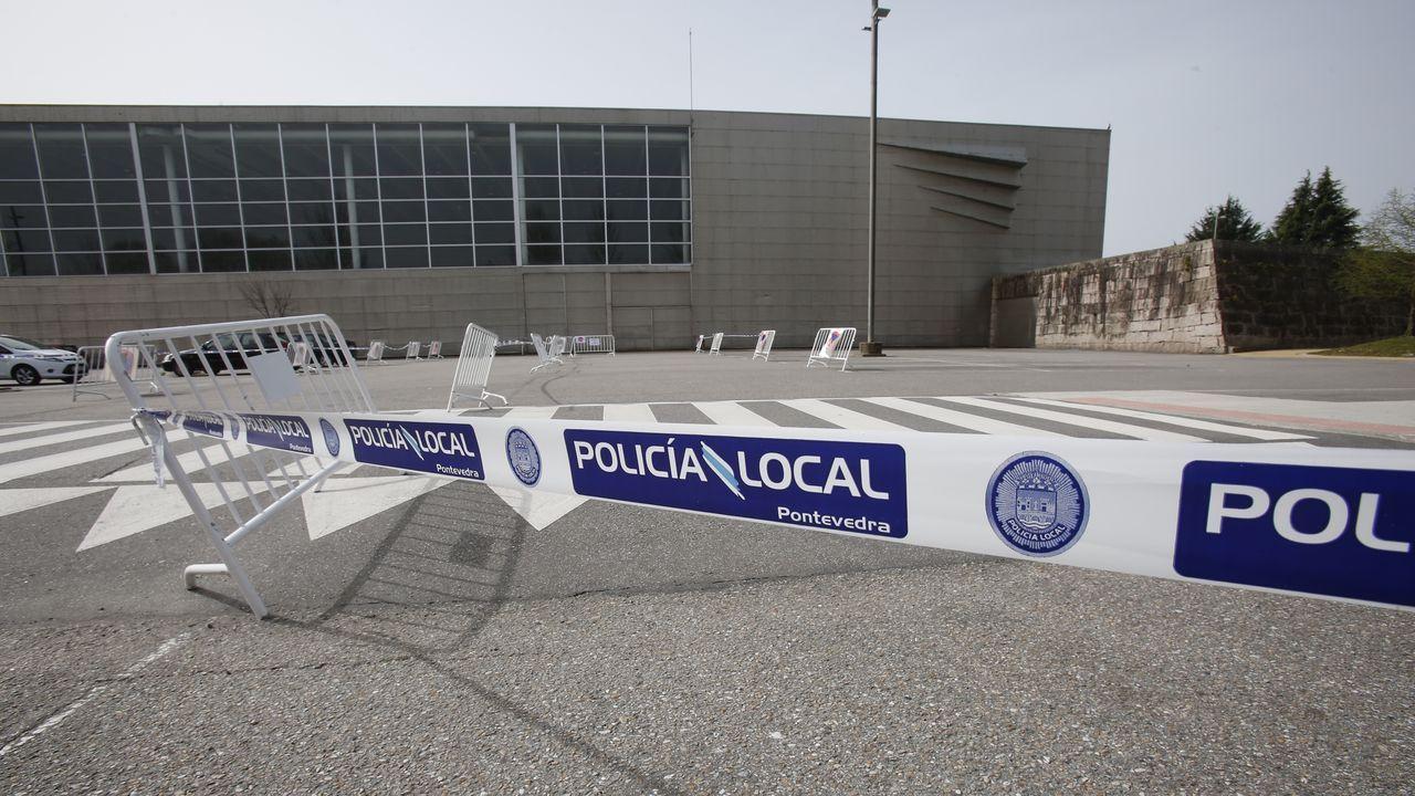 Todo preparado en el recinto ferial de Pontevedra para realizar las pruebas de detección del coronavirus