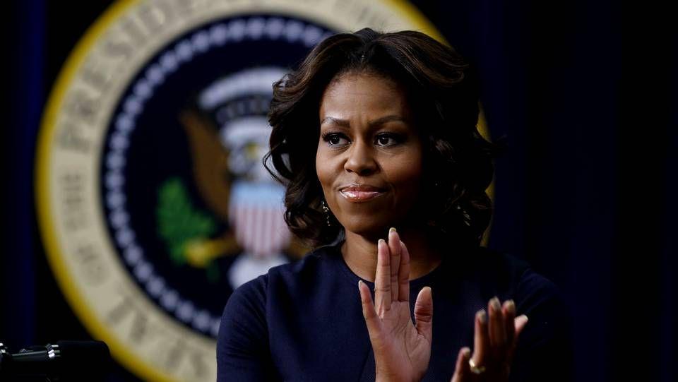 El medio siglo de la primera dama de EE.UU..Michelle Obama durante un acto hoy en la Casa Blanca