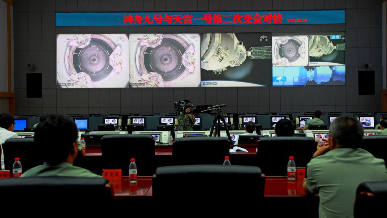 La estación espacial china Tiangong-1 en órbita