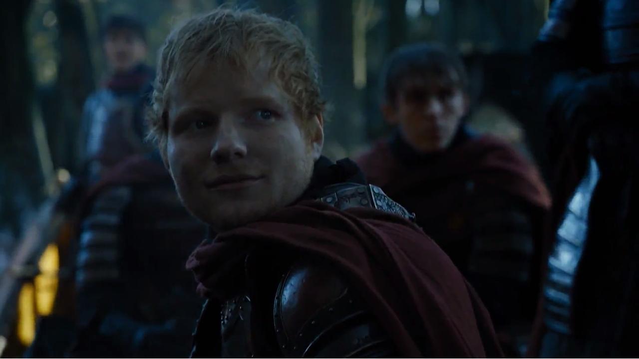 Las fuentes de Vigo que no funcionan.Ed Sheeran en el episodio 7x01 de Juego de Tronos
