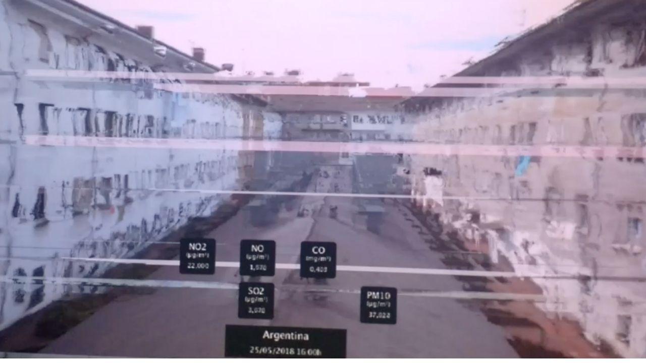 Una de las imágenes de la contaminación en Gijón