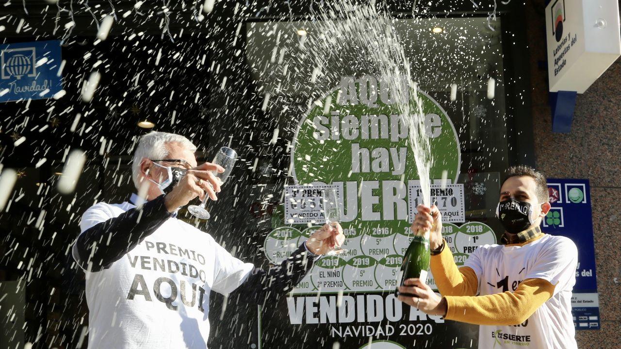 Jacobo, lotero de Tomiño que vendió 4 décimos del primer premio del sorteo del niño