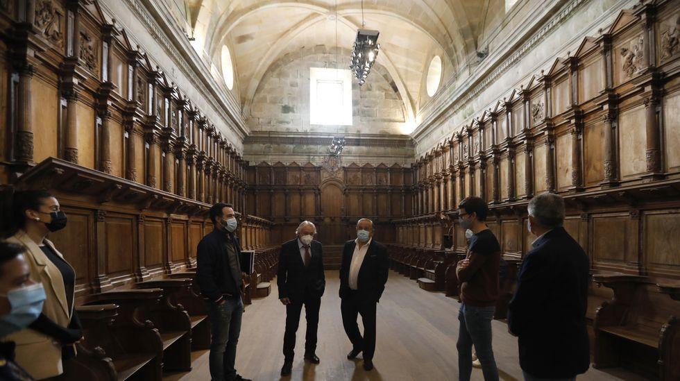 El subdelegado del Gobierno, Emilio González, visitó el mosteiro de Montederramo