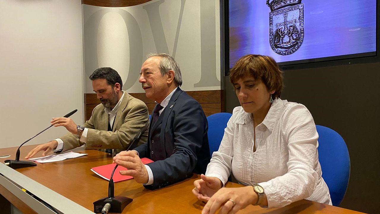 Los concejales Ricardo Fernández, Wenceslao López y Ana Rivas.