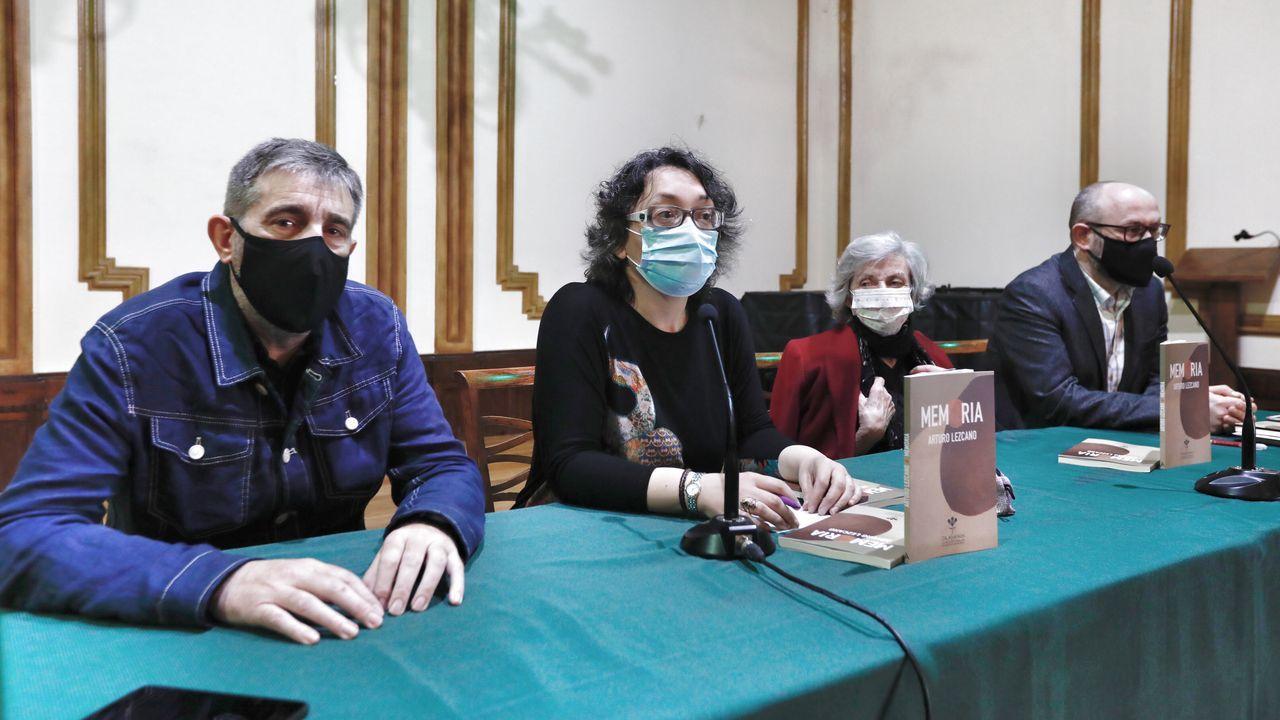 Camilo Franco, Celia Pereira, Viruca González e Xosé Manuel Pacho puxeron a palabra