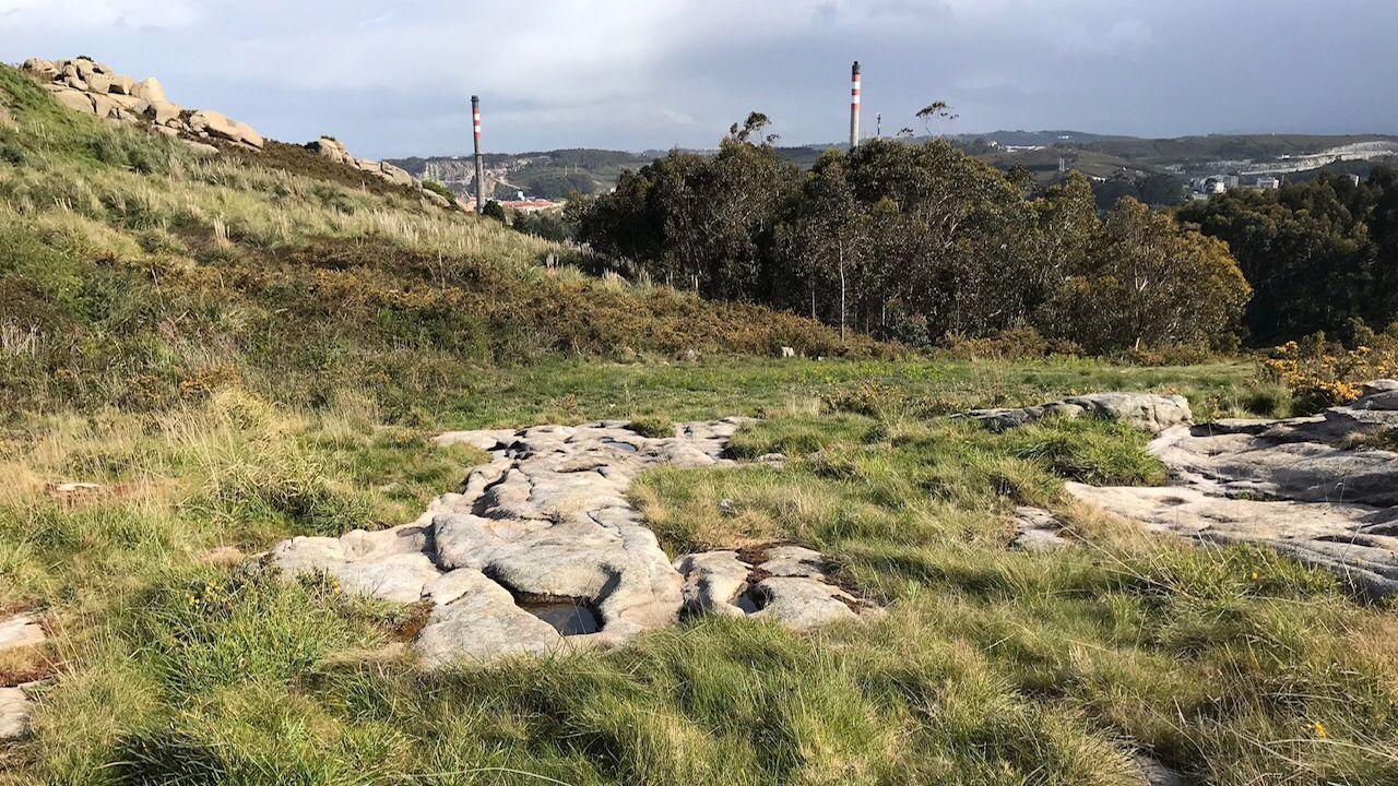 El hallazgo está situado en una zona alta de Nostián