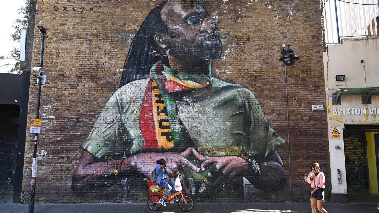 Mural en una calle de Brixton, un barrio con mayoría negra