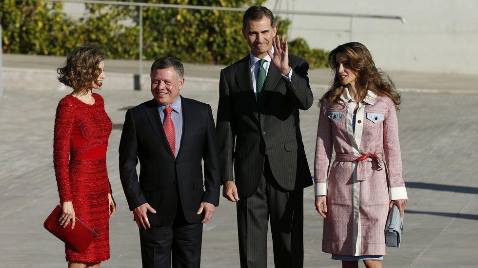 La llegada de los reyes de Jordania a España