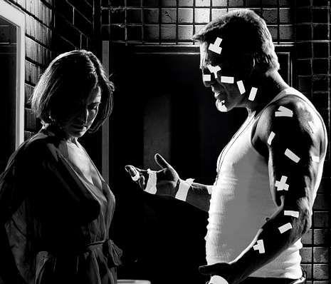 Thurman, protagonista del calendario Campari.«Sin City» abrió nuevas posibilidades visuales al cine.