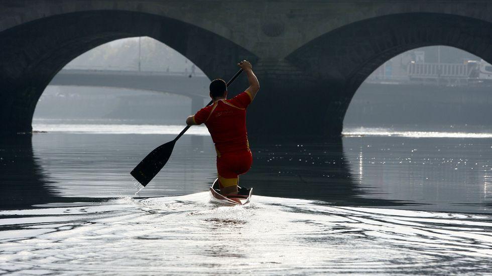 La carrera de David Cal en 100 fotos.Entreno en Pontevedra.