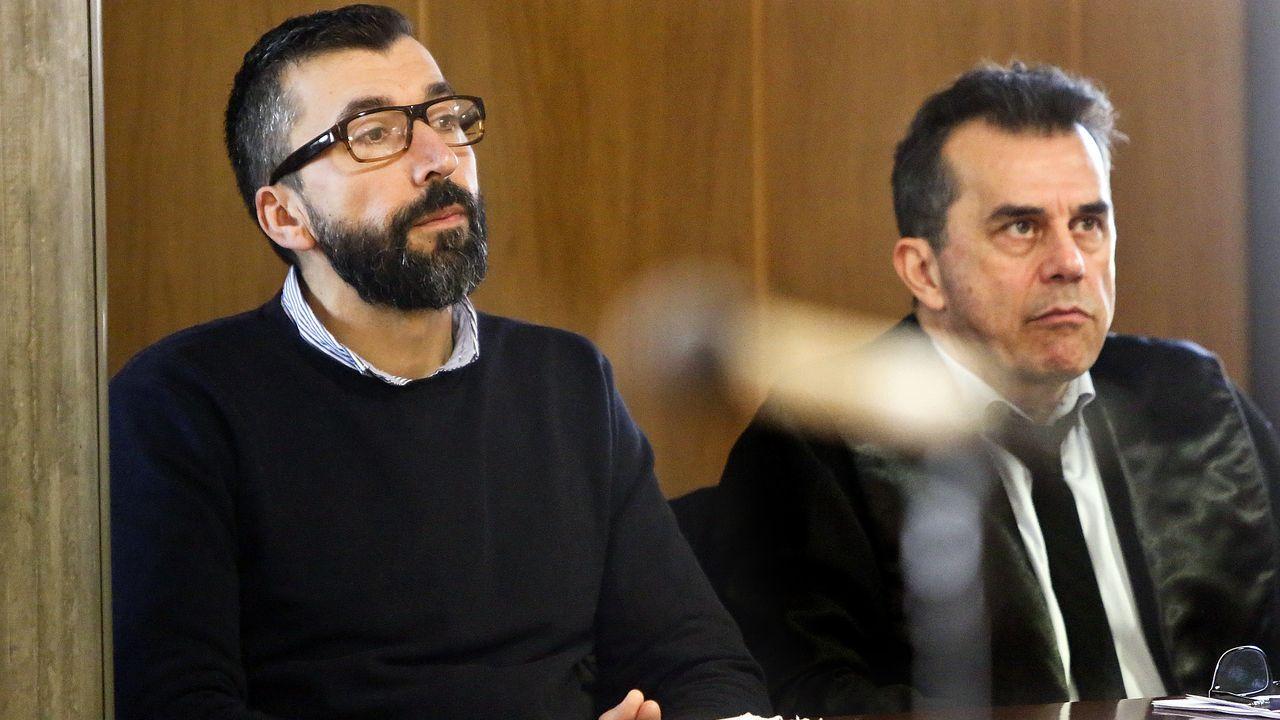 Incidencias por el temporal Elsa en Vigo.César Adrio, acusado del asesinato de Ana Enjamio, durante el juicio