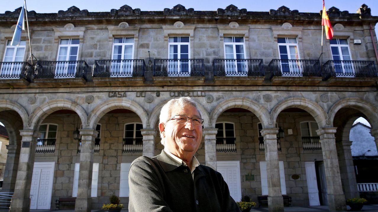 El alcalde de Carballo, Evencio Ferrero
