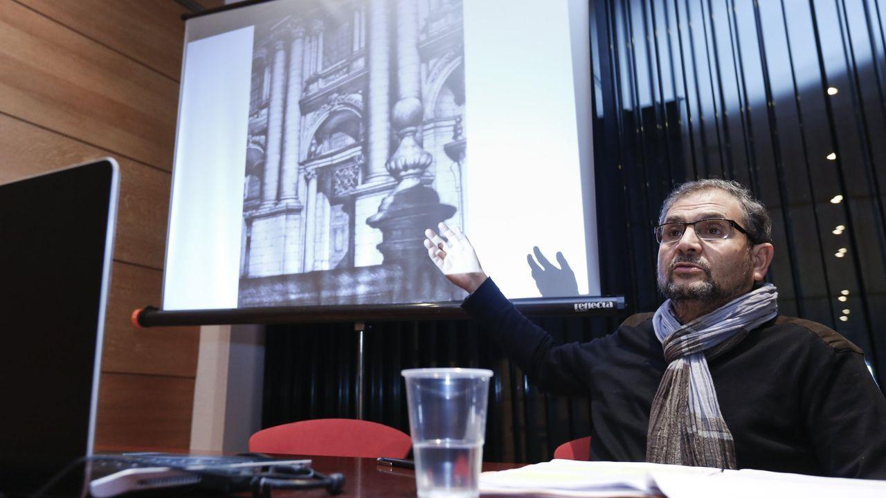 El arquitecto Santiago Catalán comenzó su seri de arquitecturas dibujadas hace cinco años con Lugo