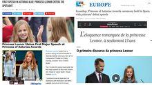La prensa internacional se hace eco de la ceremonia de los Premios Princesa