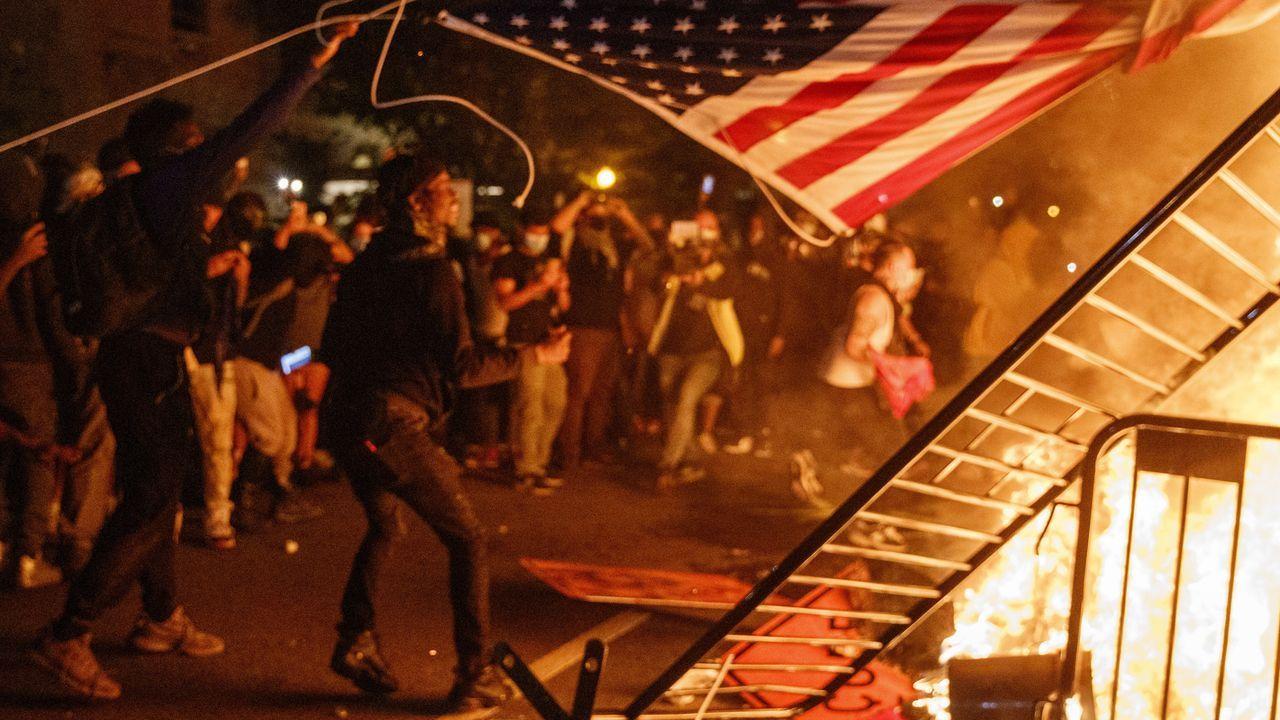 Disturbios en las inmediaciones de la Casa Blanca, en Washington