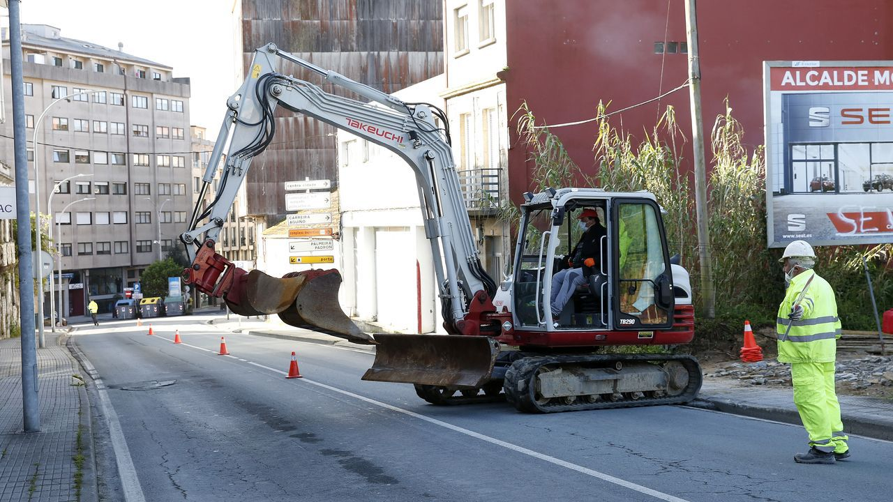 En Ribeira también se reanudaron las obras