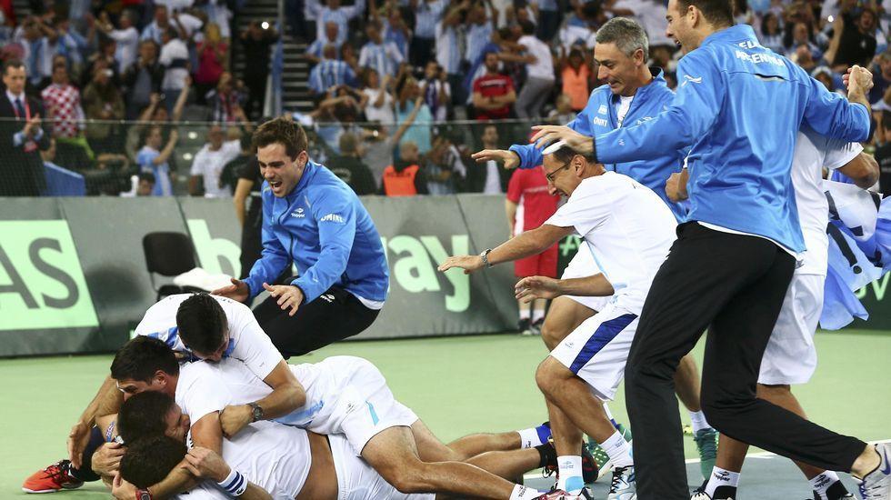 Argentina, campeón.Pablo Carreño