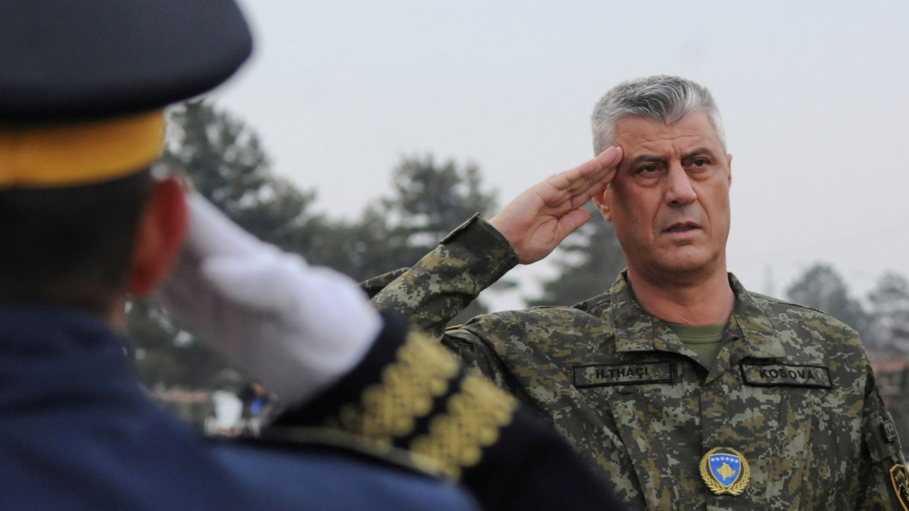 El presidente Thaçi, en una ceremonia militar en diciembre del 2018