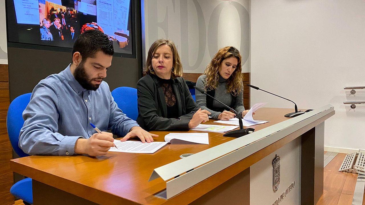 Rubén Rosón, Ana Taboada y Anabel Santiago