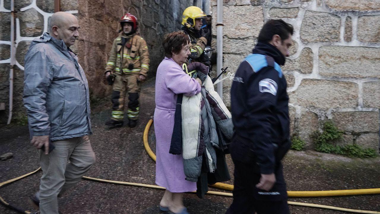 Hospital Álvarez Buylla en Mieres.Eefctos de un incendio forestal que se produjo en la parroquia de Trascastro en abril del 2017