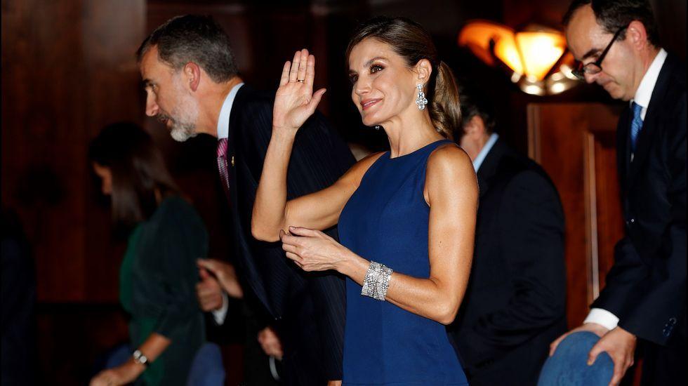 Todas las imágenes de la familia real en Asiegu.Los reyes Felipe y Letizia a su llegada al tradicional concierto de los Premios Princesa de Asturias, en una foto de archivo.