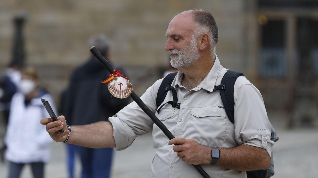 José Andrés terminó hace unos días el Camino, coincidiendo con su 52 cumpleaños