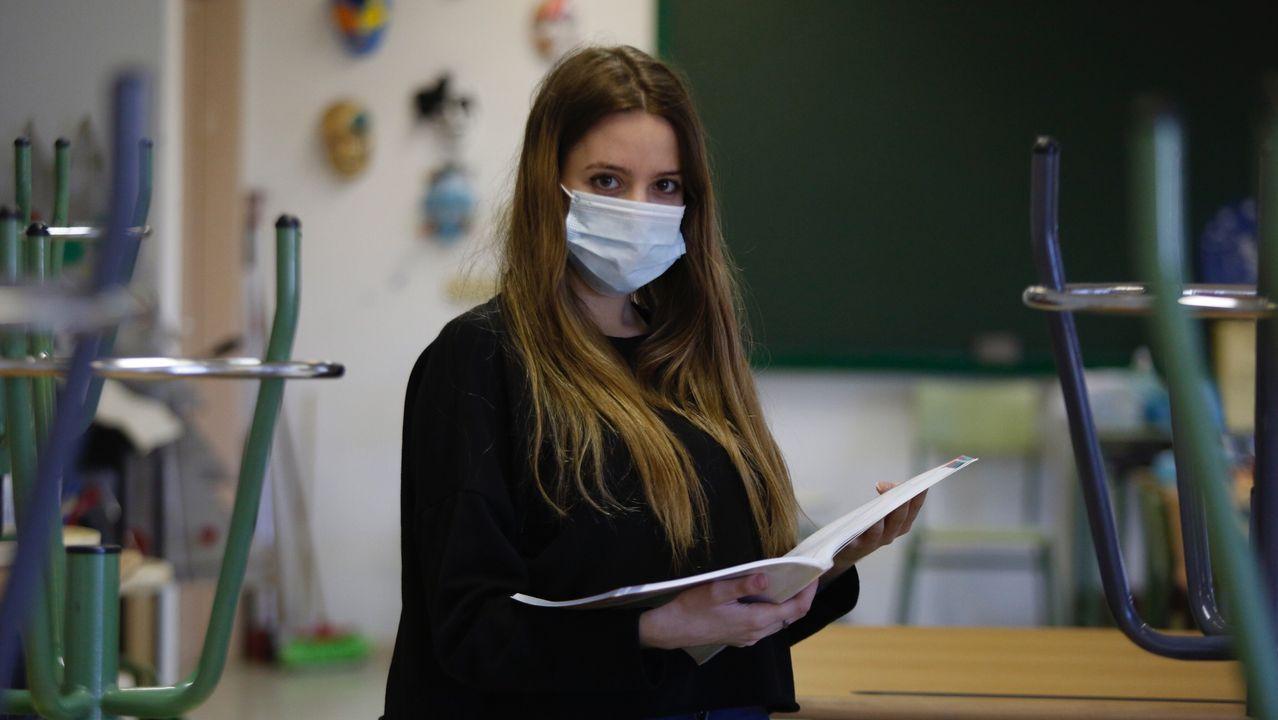 Regreso a las aulas en Ribeira.Pandemia del coronavirus. Vuelta a las aulas en el instituto Rafael Dieste de A Coruña