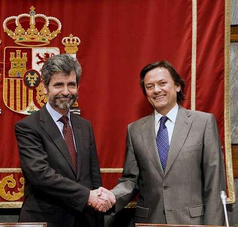 Lesmes, con Lizcano, de Transparencia Internacional España.