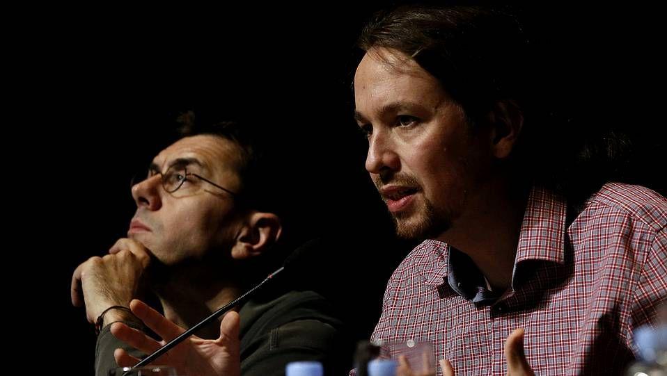Juan Carlos Monedero, junto a Pablo Iglesias, en una imagen de archivo