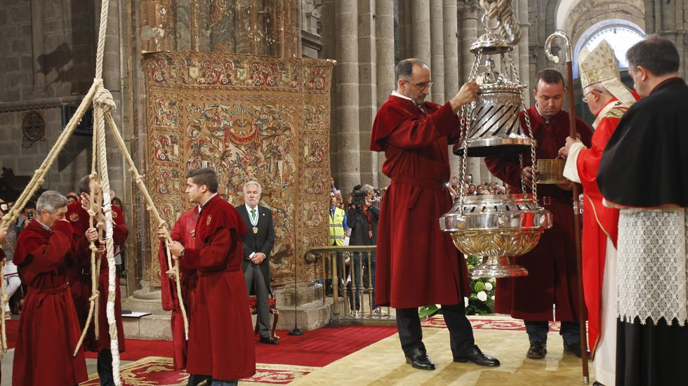 Las mejores imágenes de la ofrenda al Apóstol.Imagen de archivo del 2009.