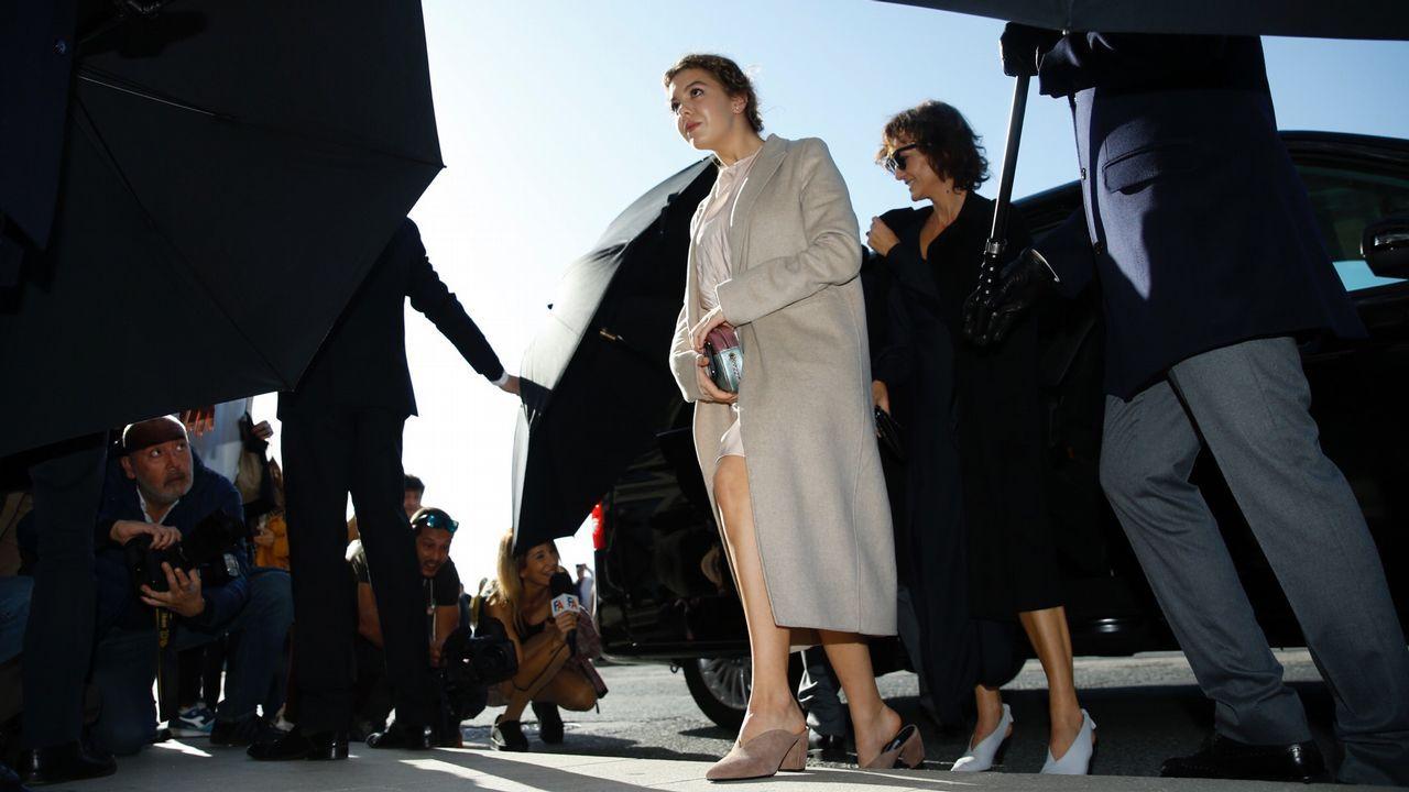 La tía y la prima de Marta Ortega a su llegada al enlace