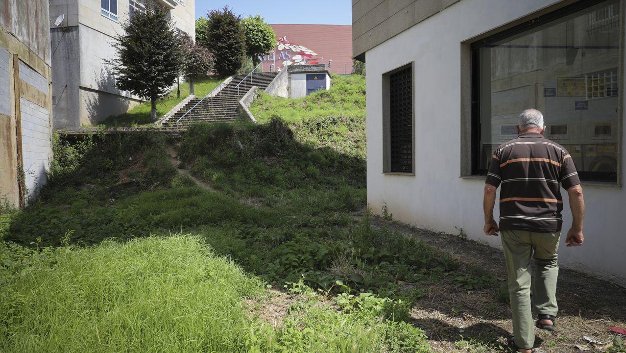 ÁLBUM: Así es el Xardín do Labirinto, en Pedrafita do Cebreiro.José Manuel Ortigueira diante dun paneis da exposición sobre o Camiño de Inverno