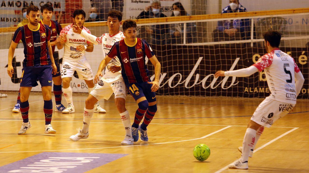 Imagen de archivo del partido entre el Portus Apostoli y el Barça B