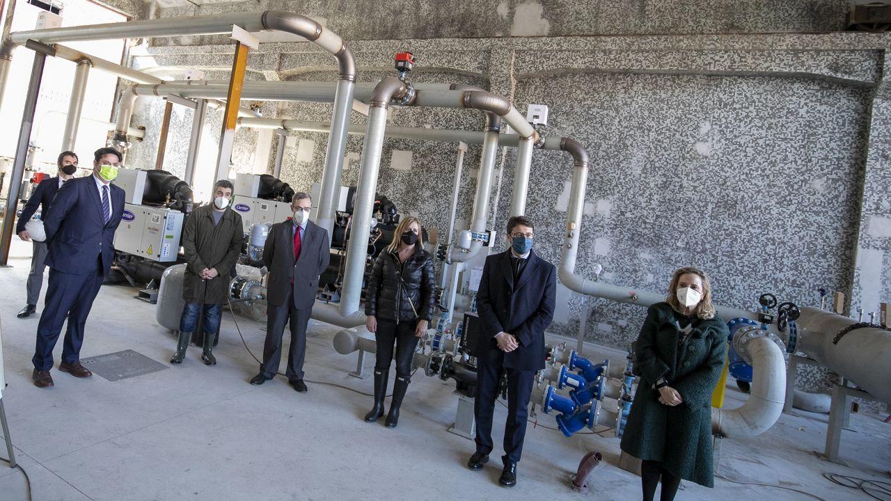 Visita a las obras para la instalación de una red de geotermia desde el pozo Fondón