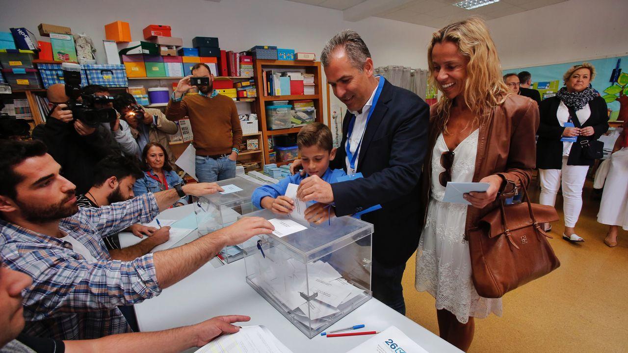 El candidato a la alcaldía de Pontevedra por el PP, Rafa Domínguez