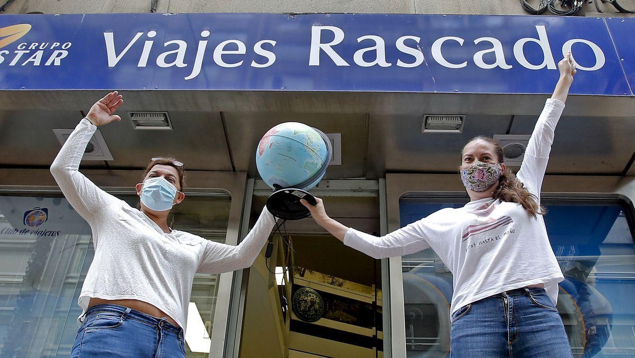 En Viajes Rascado, en Pontevedra, acaban de celebrar la reapertura de la oficina