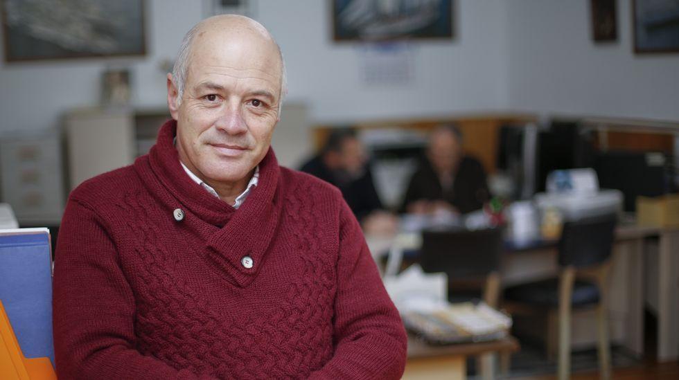 Domingo Varela, en la sede del colectivo, ubicada en Canido