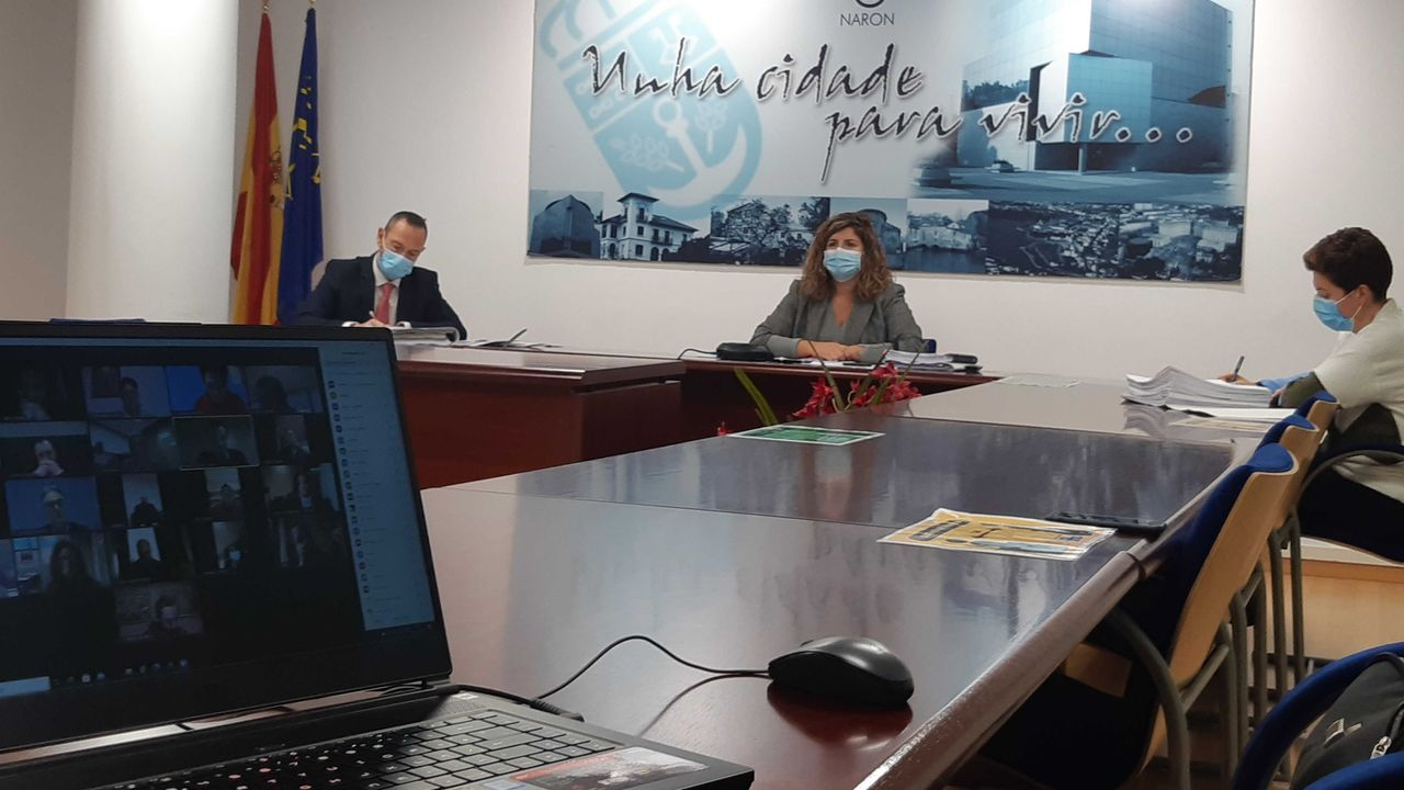 Pleno telemático del Concello de Narón en el que se aprobó el presupuesto