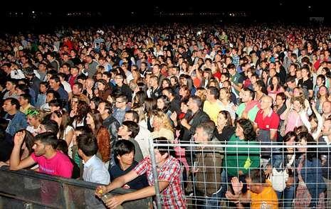 Los conciertos de San Roque han arrastrado siempre a multitud de público.