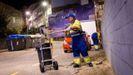 Trabajadores del servicio municipal de limpieza en Ourense