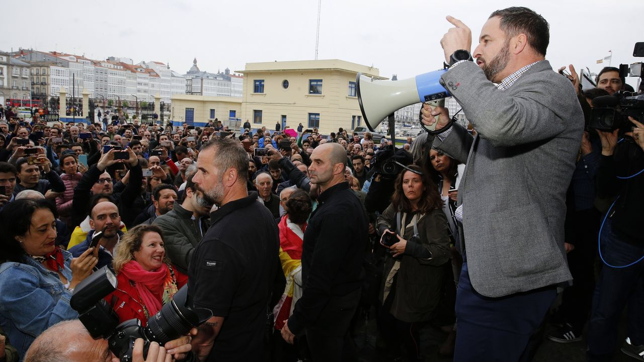 Mitin de Santiago Abascal en A Coruña
