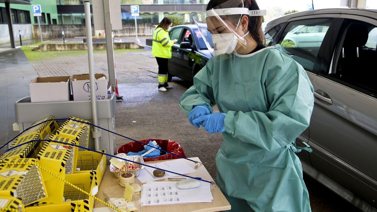 Imagen del cribado con test de antígenos en el Ifevi