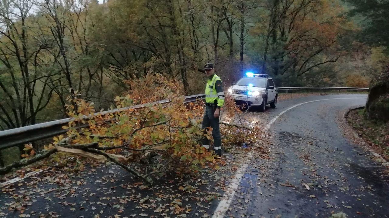 ASÍ HA CASTIGADO EL TEMPORAL A OURENSE.Carreteras afectadas por el temporal en Ourense