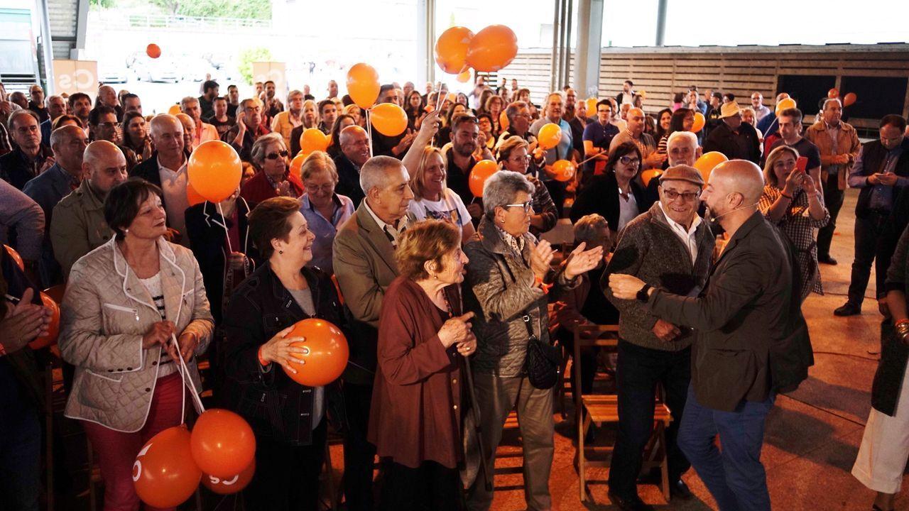 Imagen de archivo de un mitin de Ciudadanos en Ourense en el año 2019