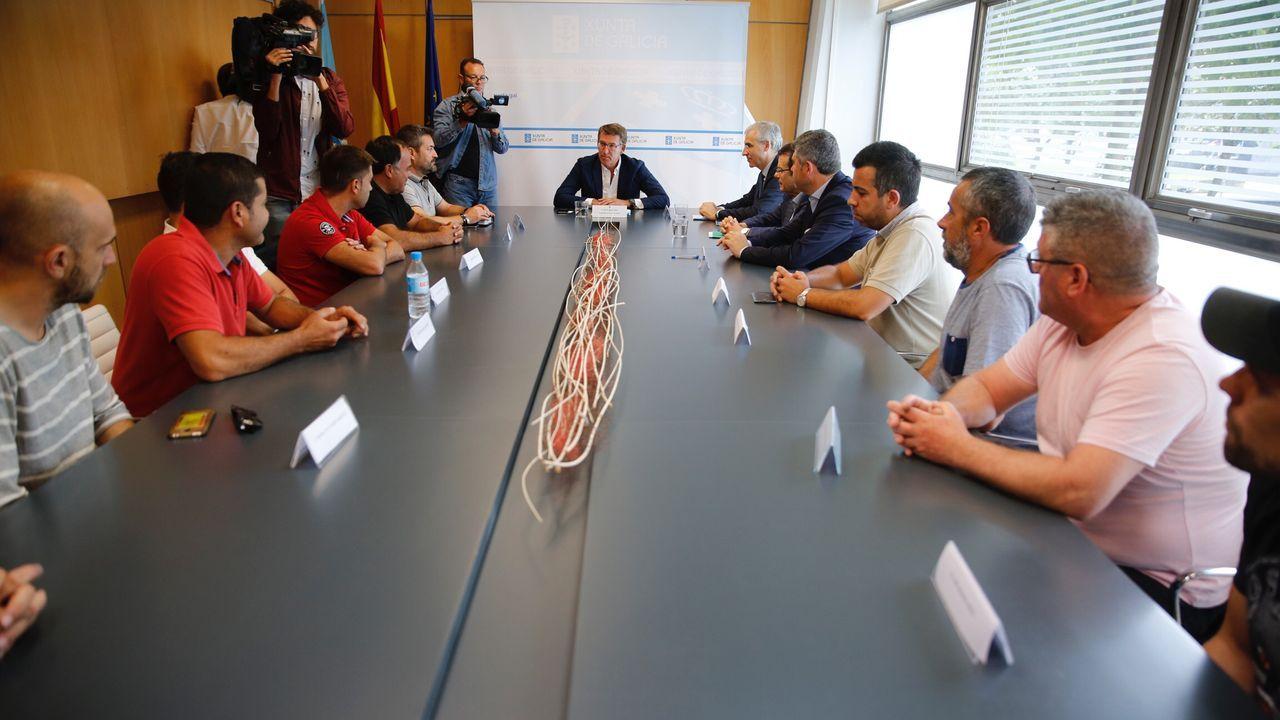 Feijoo se reúne con el comité de la antigua Alcoa y los representantes del fondo comprador, Parter
