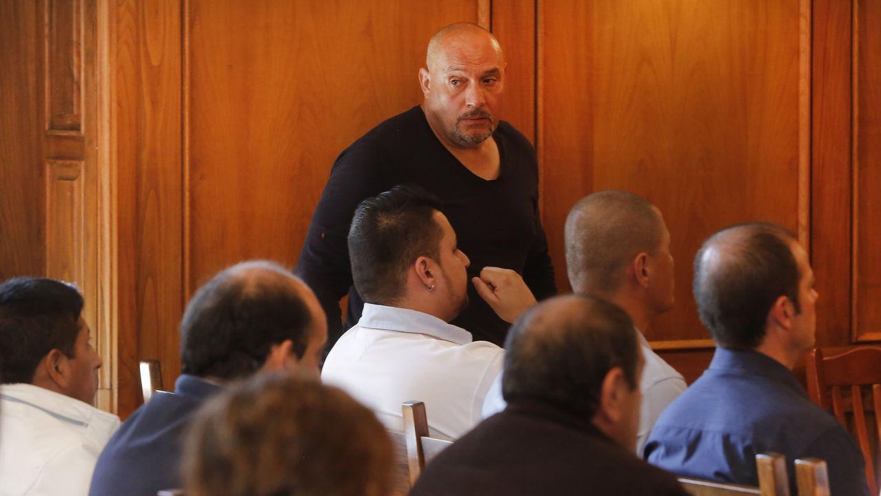 O Mulo en un juicio en la Audiencia de Pontevedra del 2017.Corazón, en una de sus visitas a Galicia