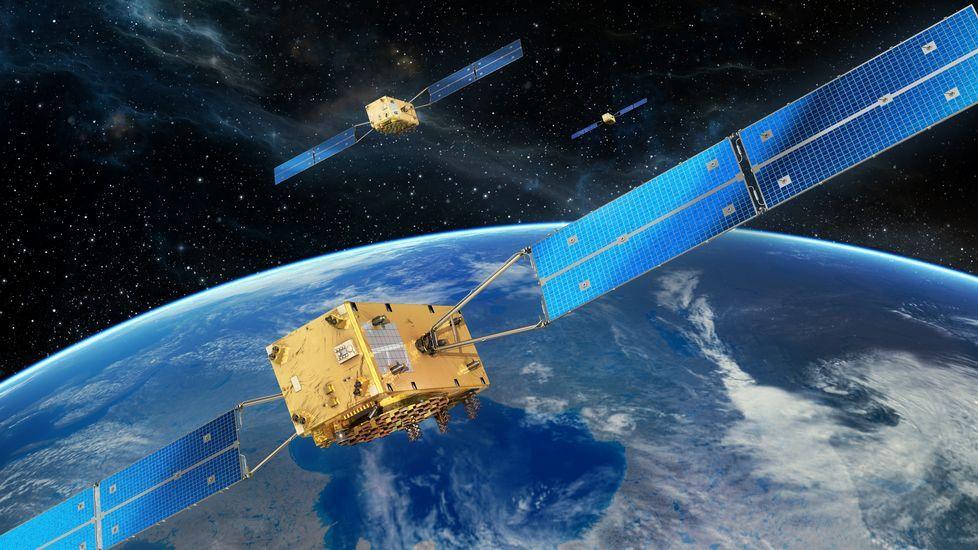 Varios satélites de la red Galileo plenamente operativos, en órbita