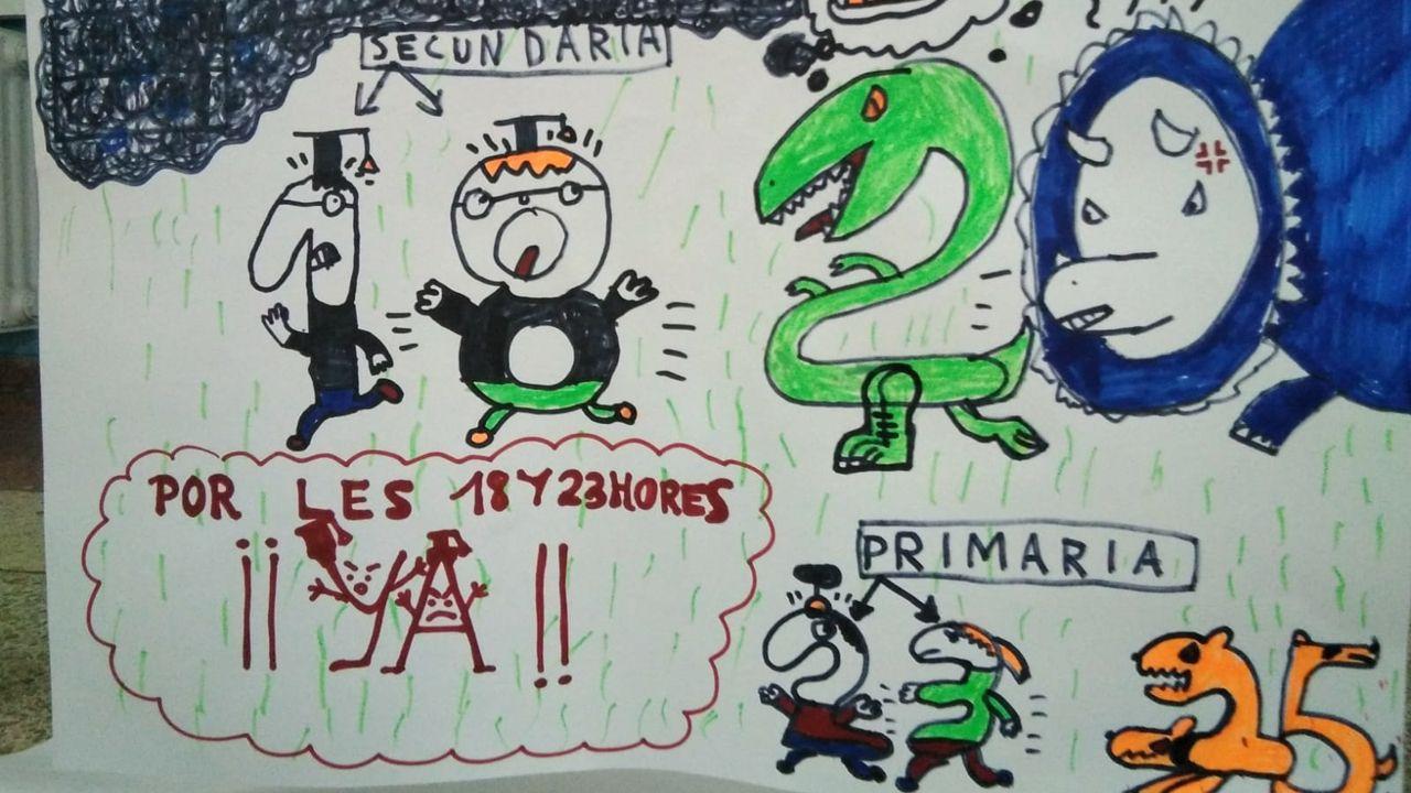 Encierro de profesores en el IES Mata Jove de Gijón
