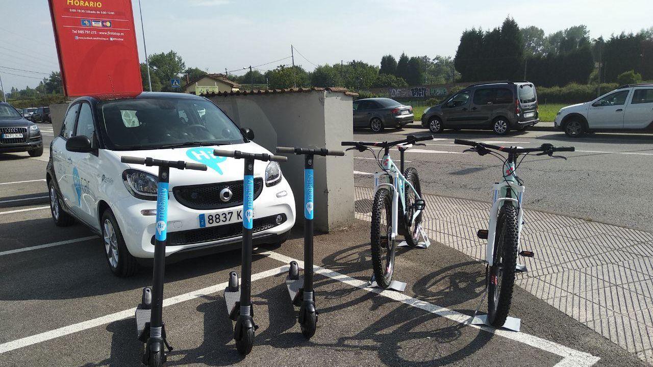 Transportes eléctricos que se pueden compartir con esta aplicación