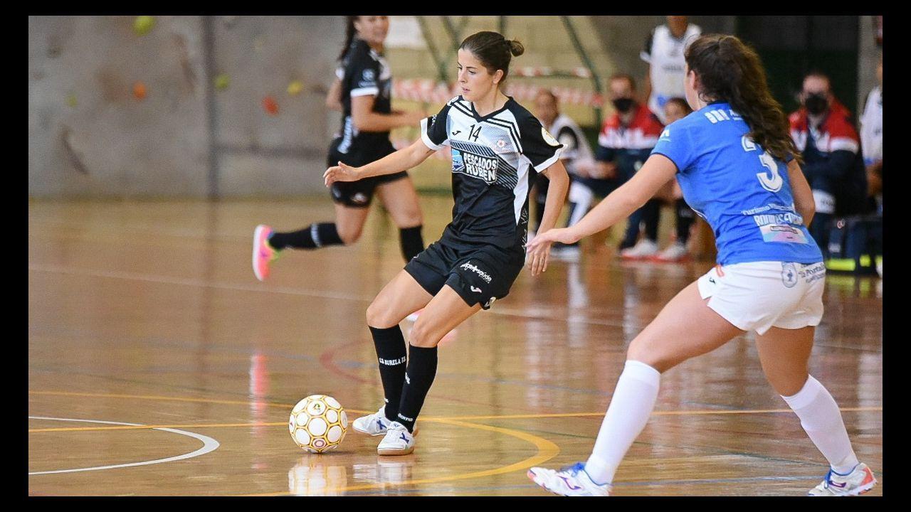 Imagen de la semifinal de la Copa Galicia entre el Amarelle y el Burela